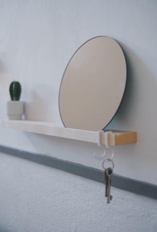 Spiegel in de gang
